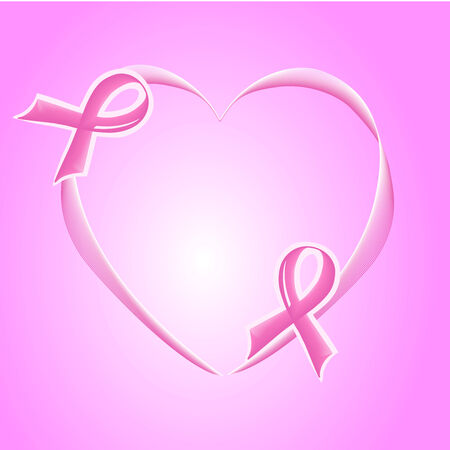 vector illustration of pink Support Ribbon Banco de Imagens - 5496368