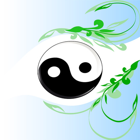 good karma: Yin and Yang symbol. vector illustration