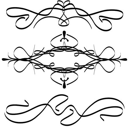 Abstract floral silhouette, element for design. vector Reklamní fotografie - 5496358