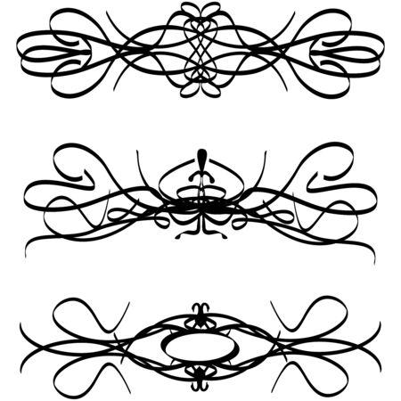 Abstract floral silhouet, element voor design. vector
