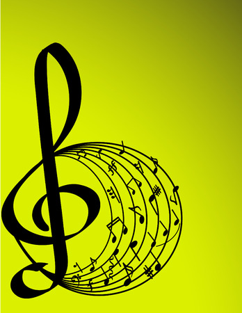 VECTOR ILLUSTRATION OF MUSIC THEME