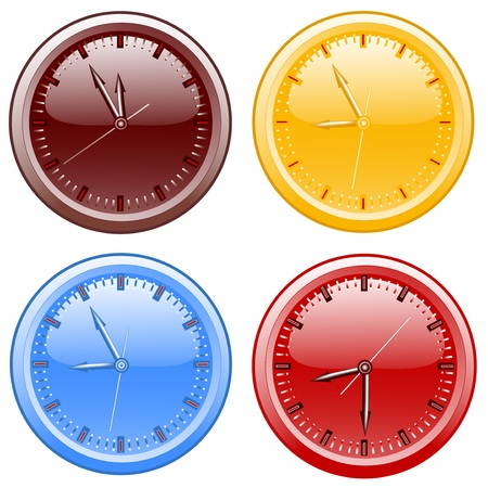 noon: Clocks. vector illustration Illustration