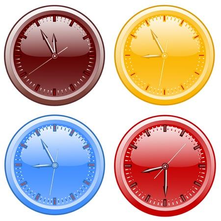 정오: Clocks. vector illustration 일러스트