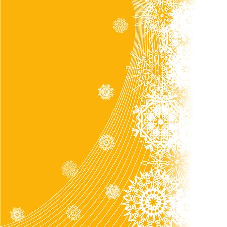vector illustration of Christmas background with the different beautiful snowflakes