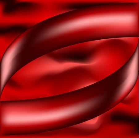 ベクトルの抽象的な背景が赤のイラスト。メッシュ