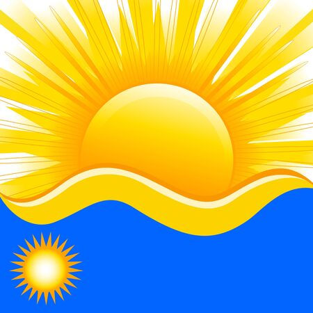 vector illustration of summer background with waves