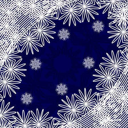 雪の青いクリスマスの背景のベクトル イラスト