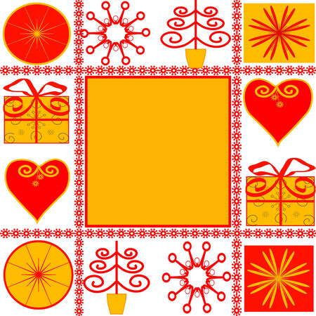 vector illustration of a Christmas Background. Çizim