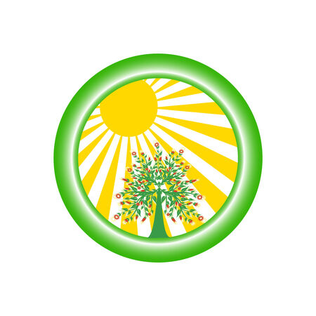 sun energy:  vector illustration of environmental logo Illustration
