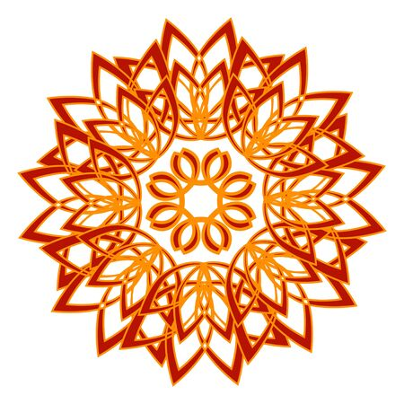 vector illustration of the abstract flower on a white background Vector