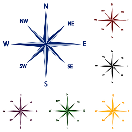 vector illustration of wind rose