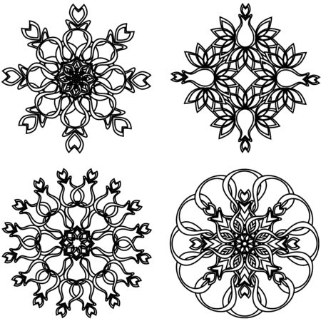 vector illustration of the flower ornaments Stock Vector - 6174431