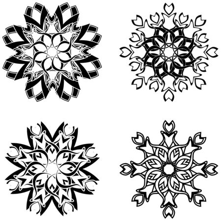 vector illustration of the flower ornaments Stock Vector - 6174427
