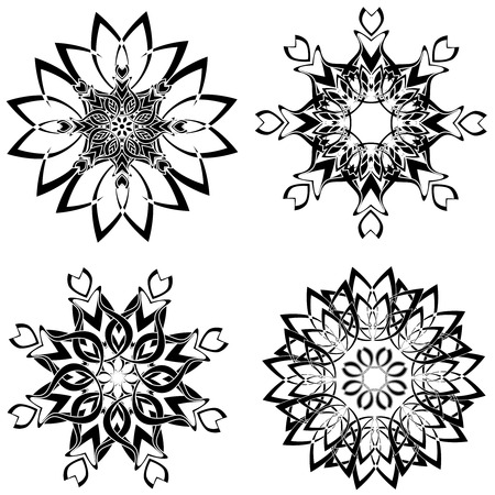 vector illustration of the flower ornaments Stock Vector - 6174433