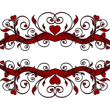 curls: floral ornament
