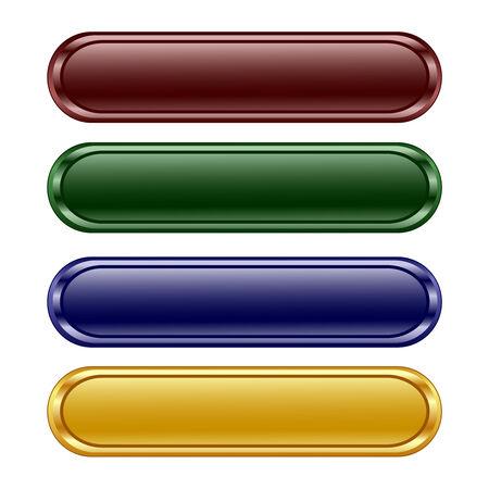 afbeelding van de vier langwerpige glanzende paneel  Stock Illustratie