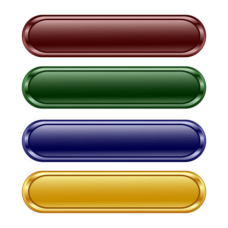 rectangle button: illustration of the four oblong shiny panel
