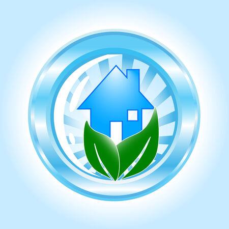 vector. ecological house icon