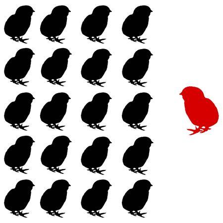 illustration of the chicks. concept - Team Ilustração