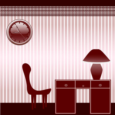 vector illustration of a office room with furniture