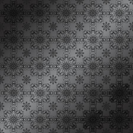 抽象的な花パターンのベクトル イラスト