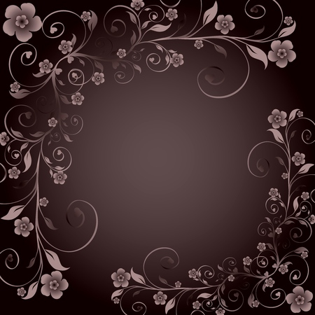 illustration of a floral ornament Vector