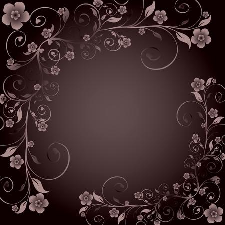 illustration of a floral ornament Vectores