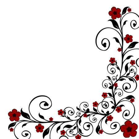wedding card design: illustration of a floral ornament Illustration