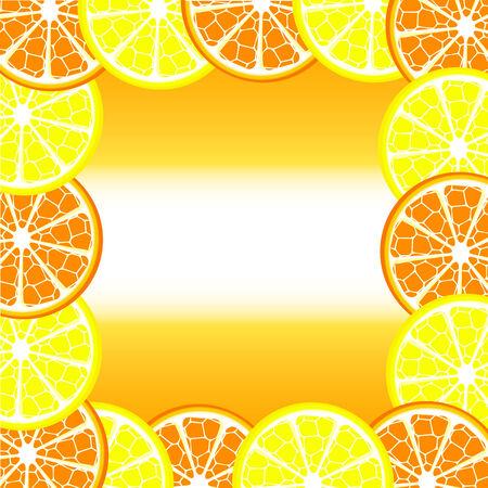 illustration of a citrus frame