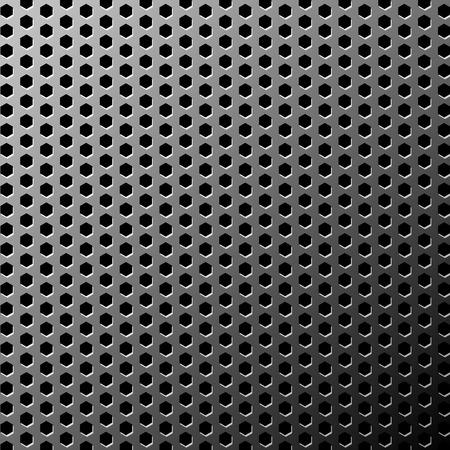 titanium:  illustration of a metal texture made with hexagon pattern