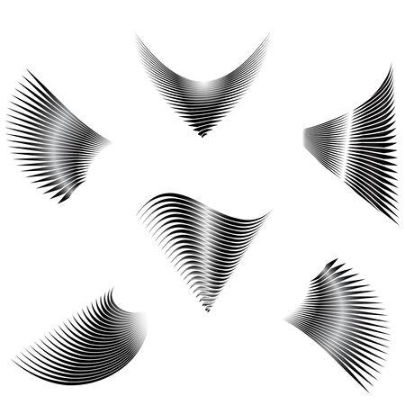 illustration of the abstract wings Illusztráció