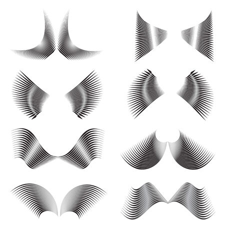 illustration of the abstract wings Иллюстрация