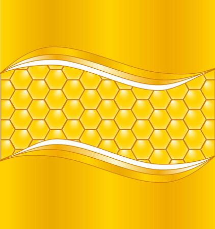 illustratie van een achtergrond honing raat met golven