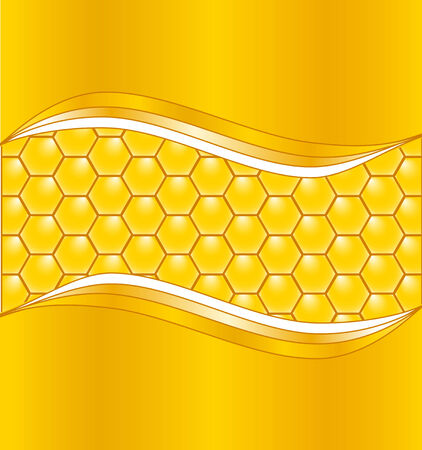 illustration of a honeycomb background with waves
