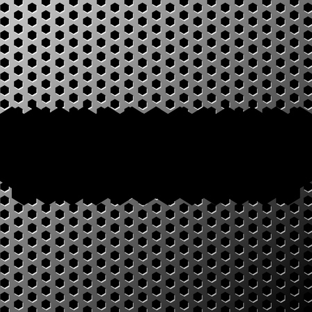 illustration of a grunge metal texture made with hexagon pattern