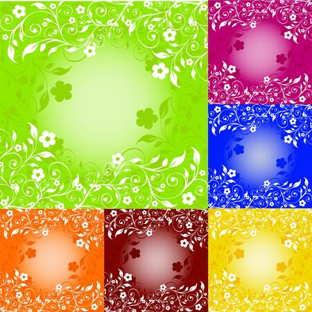 illustration of a set of floral ornaments Stock Vector - 6924520