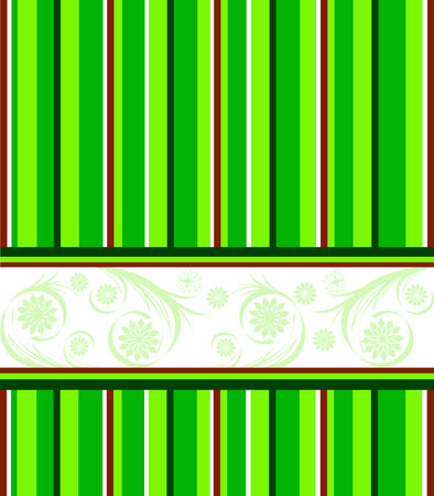 illustration of a green striped background.  Vector