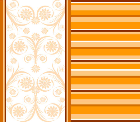 illustration of a orange striped background.  Vector