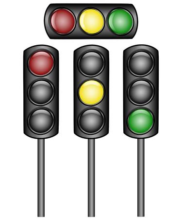 illustration of a traffic lights Vector