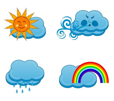illustration of a weather icons set