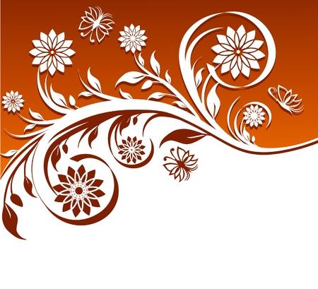 illustration of a floral ornament