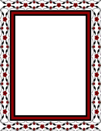 fashion design: illustration of a floral frame
