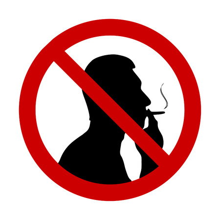 illustration of No smoking sign  向量圖像