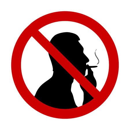 prohibido fumar: Ilustración de la señal de no fumar  Vectores