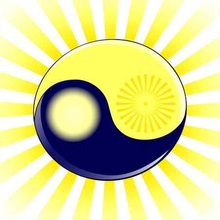 illustratie van een symbool Yin en Yang
