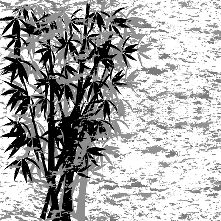 vector illustration of a grunge bamboo
