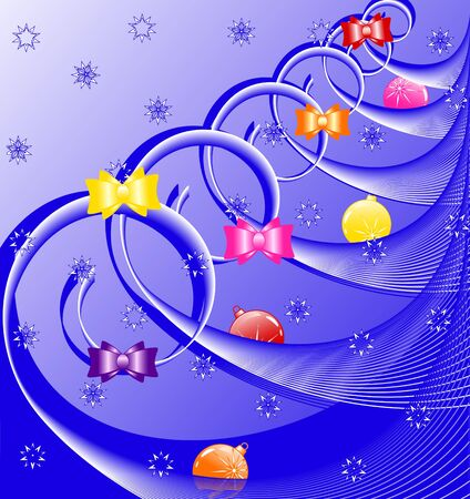 vector illustration of a christmas tree  with decorations Vector