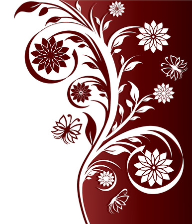 illustration of a floral ornament Stock Vector - 7928621