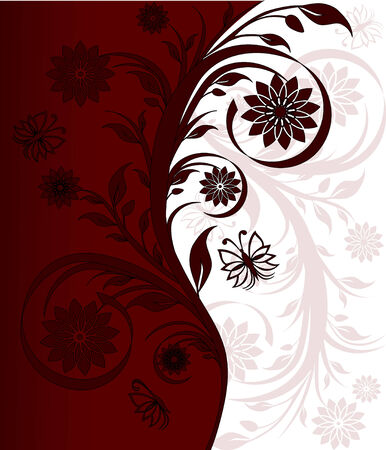 Ilustración de un adorno floral  Foto de archivo - 7928624