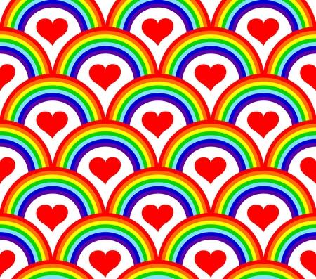 rainbow: illustration of a seamless rainbow pattern